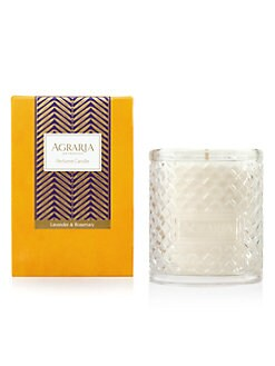 Agraria - Lavender Rosemary Woven Crystal Candle