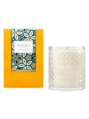 Mediterranean Jasmine Woven Crystal Candle
