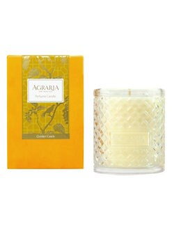 Agraria - Golden Cassis Woven Crystal Candle