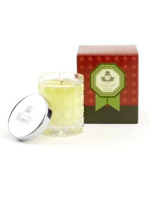 Lime & Orange Blossoms Petite Crystal Cane Candle