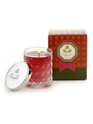Cedar Rose Petite Crystal Cane Candle