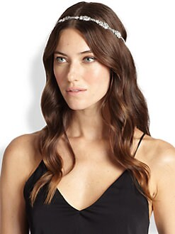Jennifer Behr - Diamond Leaves Swarovski Crystal Headwrap