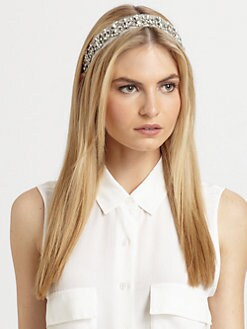 Jennifer Behr - Swarovski Crystal & Silk Headwrap