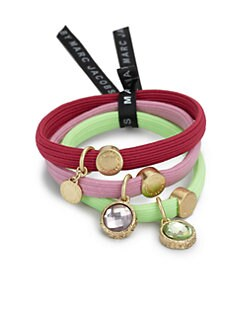 Marc by Marc Jacobs - Faceted Cluster Ponytail Holders