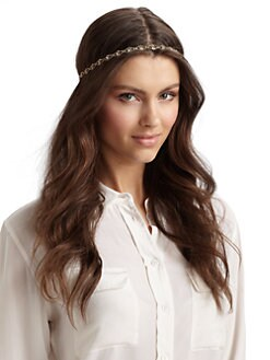 Jennifer Behr - Tiny Crystal Scallop Headband