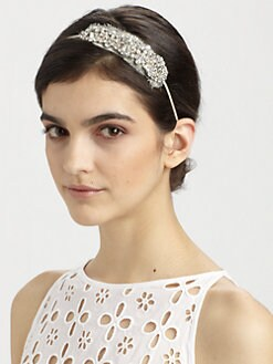 Jennifer Behr - Swarovski Crystal Encrusted Silk Chiffon Headband