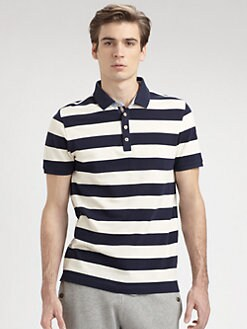 Moncler - Striped Pique Polo