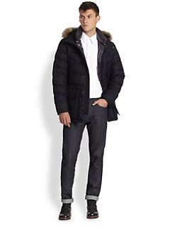 Moncler - Rethel Flannel Down Jacket