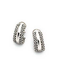 Lagos - Sterling Silver J-Hoop Earrings/&#190&#34