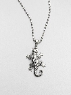 Lagos - Sterling Silver Reptile Pendant Necklace