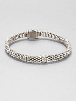 Lagos - Diamond and Sterling Silver Beaded Bracelet