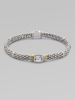 Lagos - White Topaz, Sterling Silver & 18K Yellow Gold Bracelet