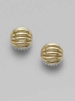 Lagos - 18K Gold & Sterling Silver Stud Earrings