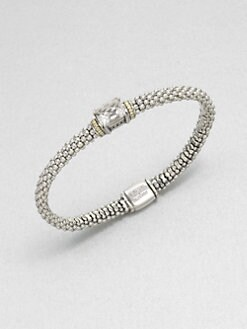 Lagos - White Topaz, Sterling Silver and 18K Yellow Gold Bracelet