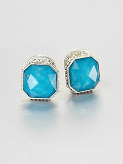 Lagos - Turquoise and Sterling Silver Earrings