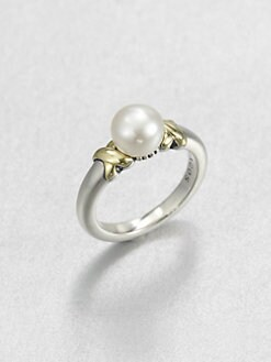 Lagos - Freshwater Pearl, Sterling Silver and 18K Yellow Gold Ring