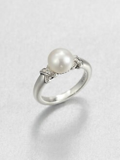 Lagos - Freshwater Pearl, Diamond and Sterling Silver Ring