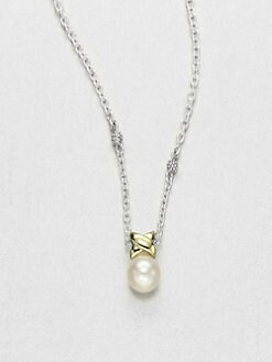 Lagos - Freshwater Pearl, Sterling Silver and 18K Yellow Gold Necklace