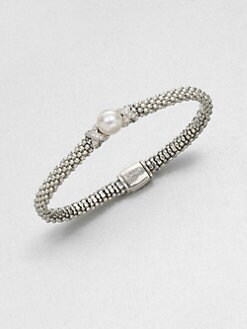 Lagos - Freshwater Pearl, Diamond and Sterling Silver Bracelet