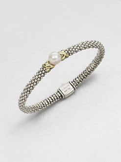 Lagos - Freshwater Pearl, Sterling Silver and 18K Yellow Gold Bracelet