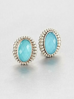 Lagos - Turquoise Doublet and Sterling Silver Earrings