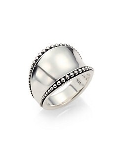 Lagos - Sterling Silver Caviar-Edged Ring