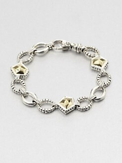 Lagos - 18K Gold and Sterling Silver Rock Link Bracelet