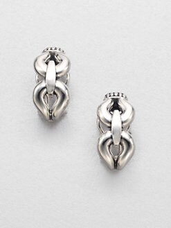 Lagos - Sterling Silver Buckle Earrings