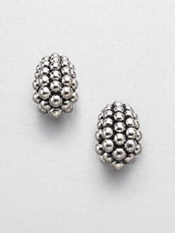 Lagos - Sterling Silver Caviar Earrings