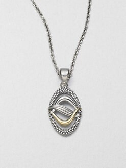 Lagos - Sterling Silver & 18K Gold Pendant Necklace