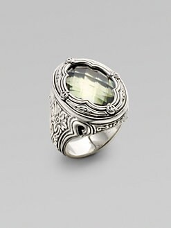 Konstantino - Prasiolite and Sterling Silver Ring