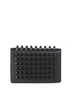 Christian Louboutin - Milos Spiked Leather Foldover Wallet