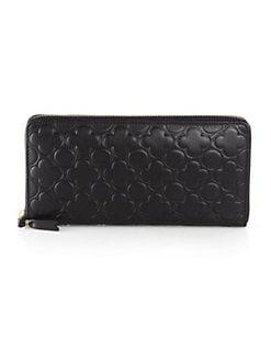 Comme des Garcons - Clover-Stamped Zip-Around Wallet