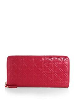 Comme des Garcons - Starburst Stamped Zip-Around Wallet