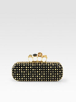 Alexander McQueen - Studded Long Knuckle Box Clutch