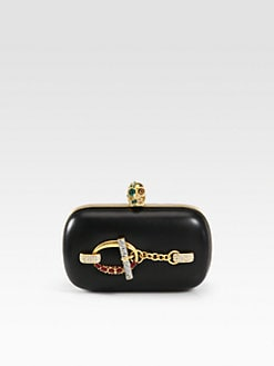 Alexander McQueen - Swarovski Crystal Chain Skull Clutch