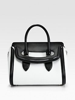 Alexander McQueen - Heroine Small Colorblock Satchel