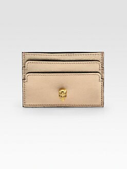 Alexander McQueen - Metallic Leather Card Case
