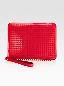 Christian Louboutin - Spiked Patent Leather Tablet Case