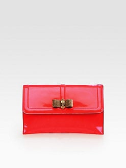 Christian Louboutin - Sweet Charity Patent Leather Pouchette Wallet Clutch