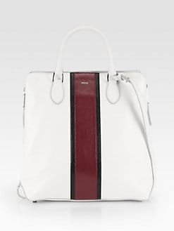 Rochas - Striped Top Handle Tote