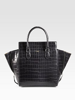 Rochas - Crocodile Embossed Leather North South Tote