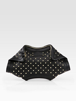 Alexander McQueen - Studded Demanta Clutch/Black