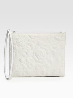 Christopher Kane - Rose-Embossed Leather Clutch