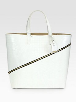 Jil Sander - Mixed-Media Top Handle Tote