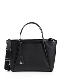 Akris - Alexa Medium Pebbled-Leather Business Bag