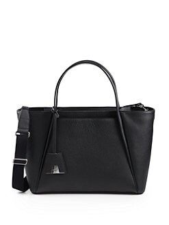 Akris - Alexa Medium Pebble Leather Business Bag