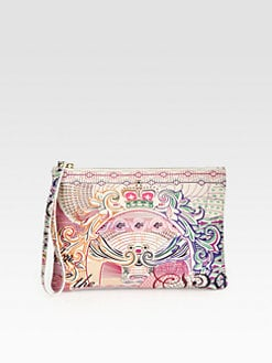 Mary Katrantzou - Pound Wristlet Pouch Clutch
