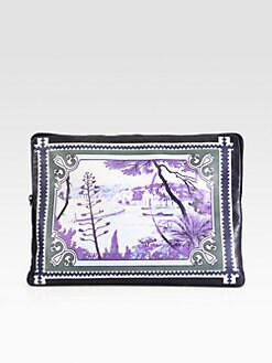 Mary Katrantzou - Large Printed Leather Pouch