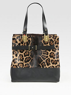 Christian Louboutin - Sybil Reversible Tote Bag/Leopard-Print Pony Hair & Brown Leather